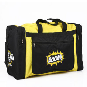 Polyester Duffle Gym Bag with Basketball Pocket pictures & photos