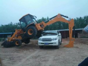 Big Backhoe Loader Top Quality Loader Backhoe for Sale 0.3/1.15 Bucket pictures & photos