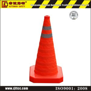70cm Reflective Tape Collapsible Road Safety Cone Traffic Cones (CC-AB70) pictures & photos