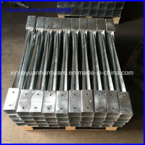 Galvanized Metal Frame Square Steel Pole Anchor for Post Holder pictures & photos