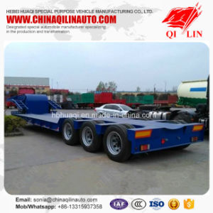 Air Suspension / Mechanical Suspension Optional 40t - 60t Low Bed Semi Trailer pictures & photos