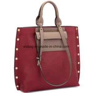 Designer PU Leather Ladies Handbag Leisure Stitching Shoulder Bag pictures & photos
