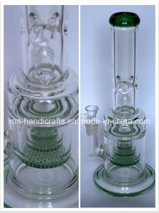 Strong Quality Smoking Glass Water Pipes with Honey Comb Perc pictures & photos