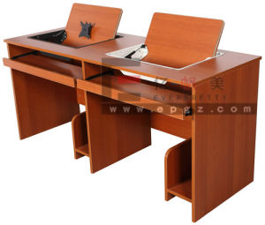 High Quality Wooden Computer Table with Shelf pictures & photos