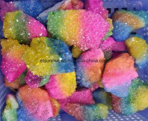 Semi Precious Stone Aqua Aura Clusters Angel- Aur Multi Color Crystal Cluster pictures & photos