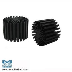 Extruded Aluminum LED Heatsink Star LED Heatsink with Diameter 70mm (Dia: 70mm H: 50mm)