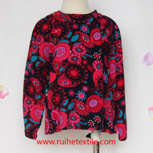 100% Cotton Fashion Colorful Print Woven Blouse for Girls