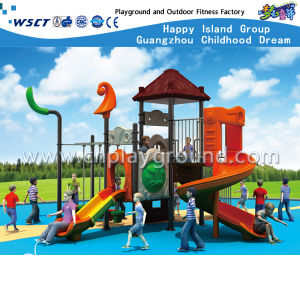 Hot Sale Children Outdoor Plastic Slide Playground HD-Tsg011 pictures & photos