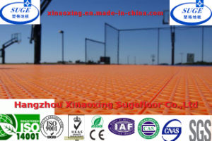 Suspended Interlocking Plastic Outside Basketball Court Flooring pictures & photos