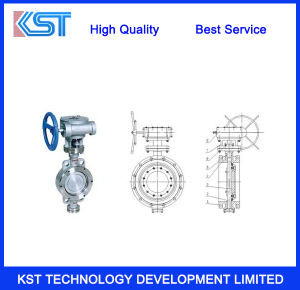 A216 Wcb Double Flange Bi-Direction Butterfly Valve
