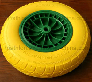 16*4.00-8 3.50-8 6.50-8 8.50-8 Wheelbarrow PU Foam Solid Rubber Wheel pictures & photos
