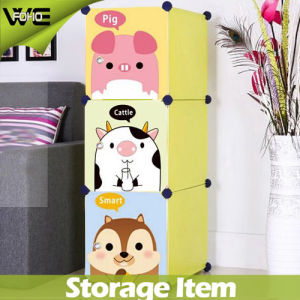 Hot Selling Closet Organizer Plastic Kids Bedroom Wardrobes pictures & photos