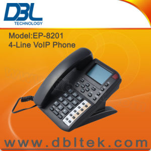 DBL 4 Lines VoIP SIP IP Phone EP-8201 pictures & photos