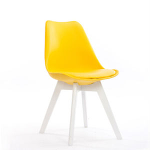 Yellow Wood Dining Chair for Coffee Shop pictures & photos