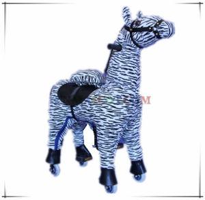Zebra Mechanical Horse Ride Animal Ride Toy Wholesale