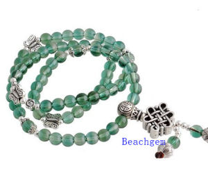 Green Quartz Beads Bracelet with Silver Charm (BRG0024) pictures & photos