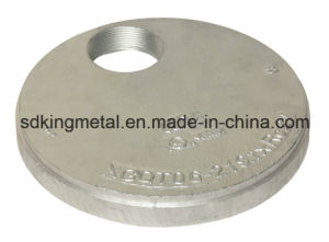 Ductile Iron 300psi NPT Threaded Caps with Eccentric Hole pictures & photos