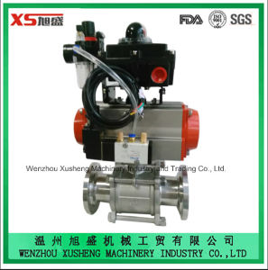Stainless Steel Actuator Pneumatic Butterfly Valves with Explosion Proof pictures & photos
