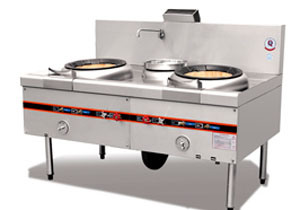 Beijing Style Two Fryer and Single Boiler (004)
