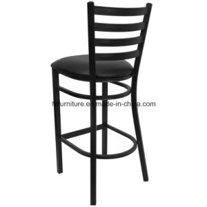 Ladder Back Metal Restaurant Barstool with Vinyl Seat pictures & photos