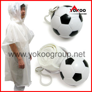 Keychain Ball Poncho for Promotion (YB-2130)