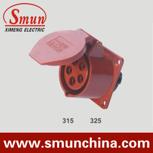 Panel Socket 16A 32A Red for Distribution Box 5pin 220-415VDC pictures & photos