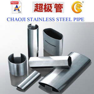 AISI 201, 304, 316 Stainless Steel Dual Slot Pipes pictures & photos