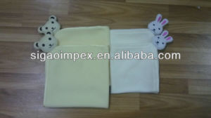 100%Polar Fleece/Microfiber Fleece Blanket with Toy Head pictures & photos
