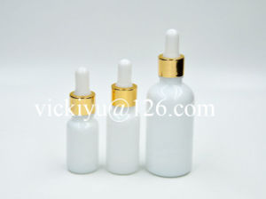 50ml Milk White Glass Bottles for Lotion pictures & photos