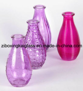 Glass Vase with Spraying Color
