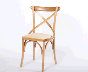 Oak Wood Cross Back Chair for Restaurant pictures & photos