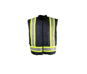 Wholesale Navy Mens Winter Thermal Warm Safety Reflective Quilted Vest pictures & photos