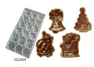 Christmas 18PCS Various Shape Sweetie &Fondant Mould Chocolate Decoration Mold Christmas