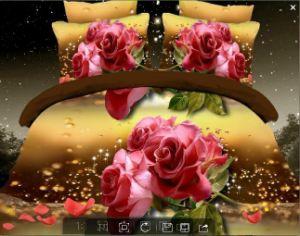 100% Cotton 3D Printed Reactive Bedding Set pictures & photos