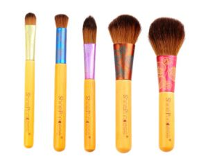 5 PCS One Set with Wood Handle Professional Makeup Brush Cosmetic Tools