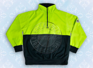 Yellow Safety Half Zipper Sweat Shirt Jacket Hoody pictures & photos