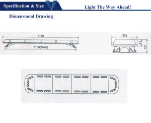 1.2m Warning Signal LED Lightbar for Ambulance pictures & photos