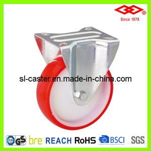 80mm PU Caster with Nylon Center (D102-26D080X30) pictures & photos
