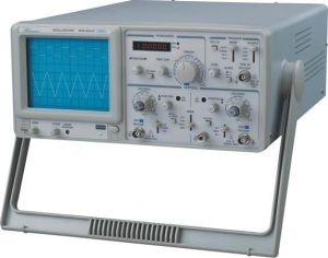 50MHz Analog Dual Trace Oscilloscope with Frequency Meter