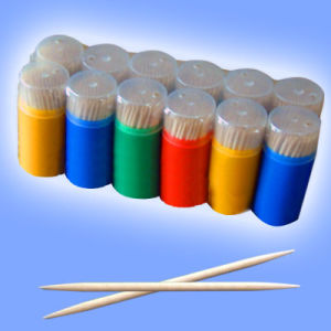 Disposable Bamboo Wood Toothpick in Tube/Jar/Can/Bottle