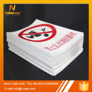 Reflective Plastic PVC Sticker Safety Warning Label pictures & photos