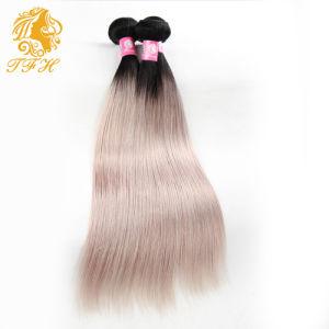 Brazilian Virgin Ombre Grey Hair Weave 3PCS/Lot Omber Grey Hair Extensions #1b/Gray Grey Hair Extensions Brazilian Straight Hair pictures & photos