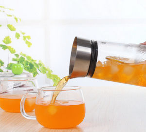 1L 1.5L Cold Water Bottle Borosilicate Glass Cold Water Kettle pictures & photos