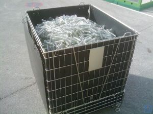 Collapsible Metal Wire Storage Containers for Pet Preform Storage pictures & photos