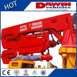 Independent Diesel Concrete Trailer Boom Pump for Terrible Placing Working pictures & photos