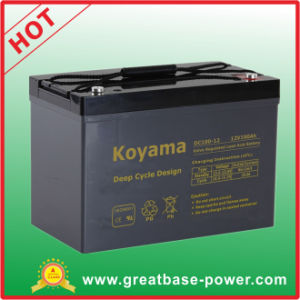 Top Quality 100ah 12V AGM Deep Cycle Marine Battery Motor Home Battery pictures & photos