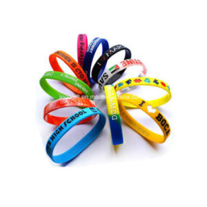 Custom Silicone Promotional Wrist Band Wholesale pictures & photos