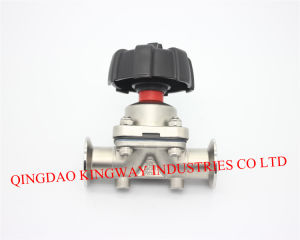 Sanitary Clamped Diaphragm Valve.