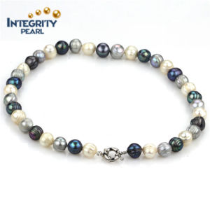 New Design Pearl Bracelet 10mm Potato Mixed Color Genuine Pearl Bracelet pictures & photos
