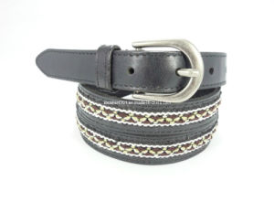 Fashion Women Leather Weaving Belt (EUBL0794-22) pictures & photos